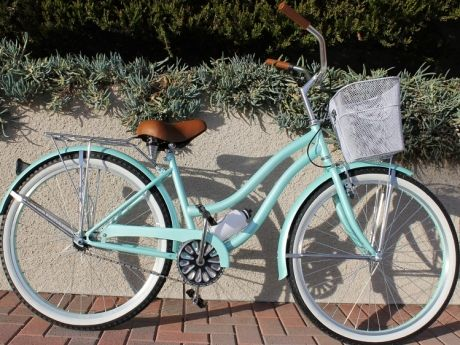 Mint Green Beach Cruiser Bike - Venice Beach Bicycles