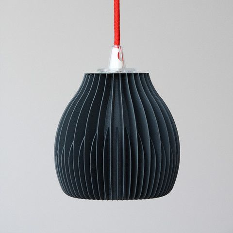 RIBONE   Printed Lamp Shade   Inspired By Visual Appearance Of Heat Sinks  Visible For Example On Industrial Lamps Or Nowadays On LED Bulbs.