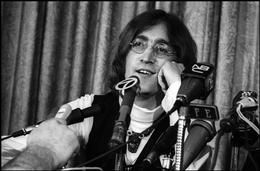 John Lennon, press conference announcing formation of Apple Records, NYC, 1968.