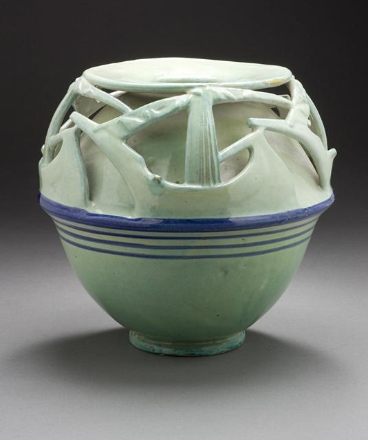 Majolica vase, Duilio Cambellotti, Italy, 1924. Collection of LACMA Decorative Arts and Design Dept.