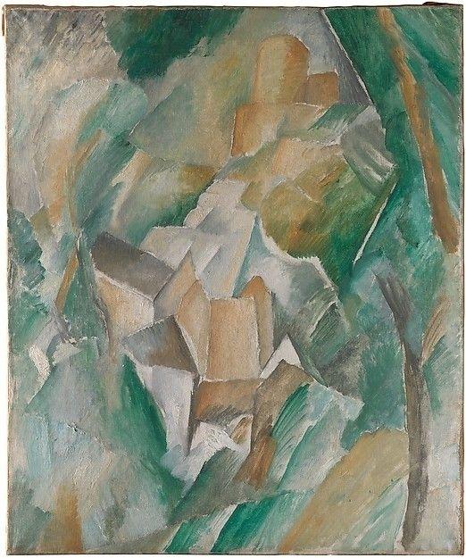 """The Castle of La Roche-Guyon"" Georges Braque, 1909"