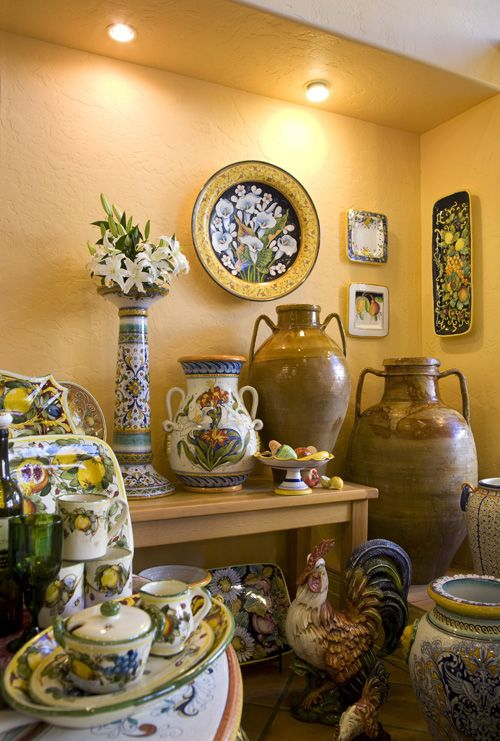 Italian Pottery Outlet in Santa Barbara. Hand made and hand painted Italian ceramics from all over Italy. Truly a must see!