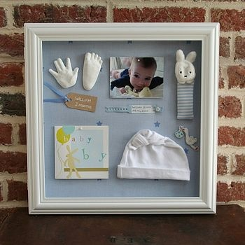 shadow box for baby memories #mothersday #giftideas #customframing
