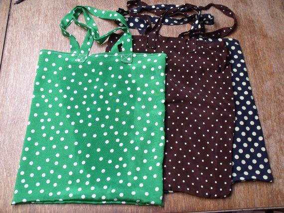 3 Shopping bags reclaimed poly-cottons spotty by BarnesGoodman