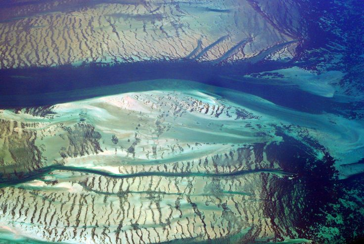 Aerial Photo Shark Bay Western Australia