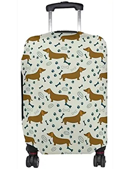 Dog Dachshunds Print Travel Luggage Protective Covers Washable Spandex Baggage Suitcase Cover - Fits 18-32 Inch #dachshund