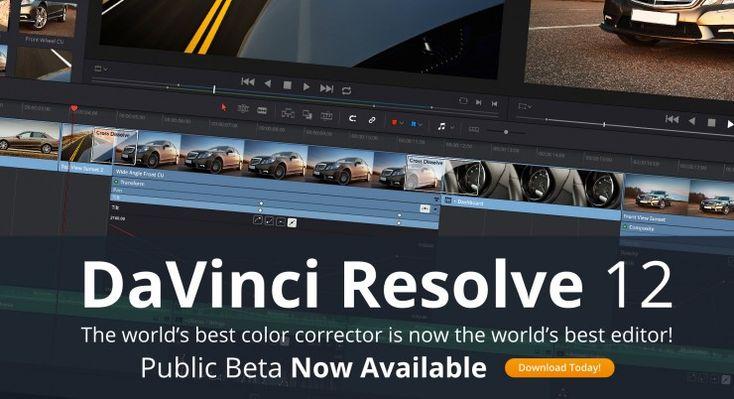 DaVinci Resolve 12 Public Beta Now Available