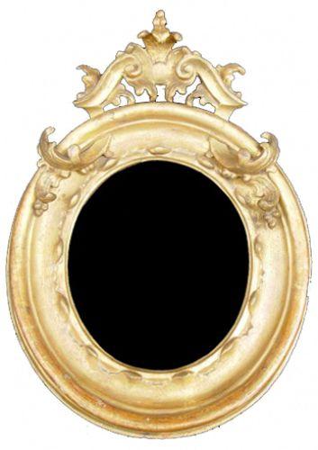 Dettaglio piccola cornice ovale intagliata e dorata cornici home decor furniture e decor - Ebay specchi antichi ...