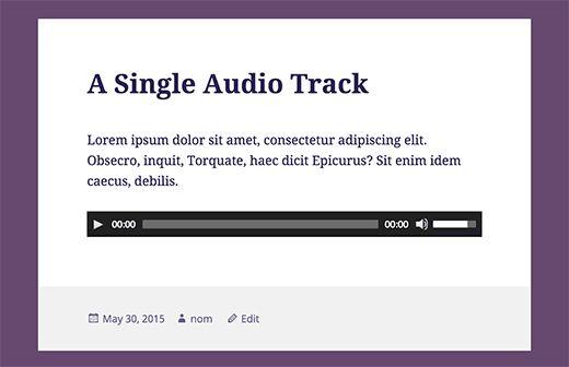 Являясь системой управления контентом, WordPress позволяет обрабатывать аудио файлы по умолчанию. В данной статье мы покажем вам, как добавить аудио файлы и создать плейлисты в WordPress.