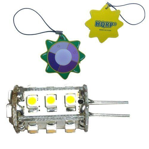 HQRP G4 15 LEDs SMD LED Bulb Tower Type Warm White for Intermatic Landscape light / Malibu Landscape light plus HQRP Coaster by HQRP. $5.91. Lumen Color Temperature: Warm White 3500K; Working Voltage:12V AC / DC;. 200 days warranty!. Power: 1.3 Watt; LED: 15 LEDs, SMD3528. HQRP® G4 LED Bulb plus HQRP® Coaster;. Bulb Type: G4 Base; Lumen: 105;. HQRP Tower Type G4 15 LEDs SMD 3528 LED Bulb Warm White 3500K 12V AC / DC 1.3W 105 Lumen. This HQRP SMD LED Bulb would...