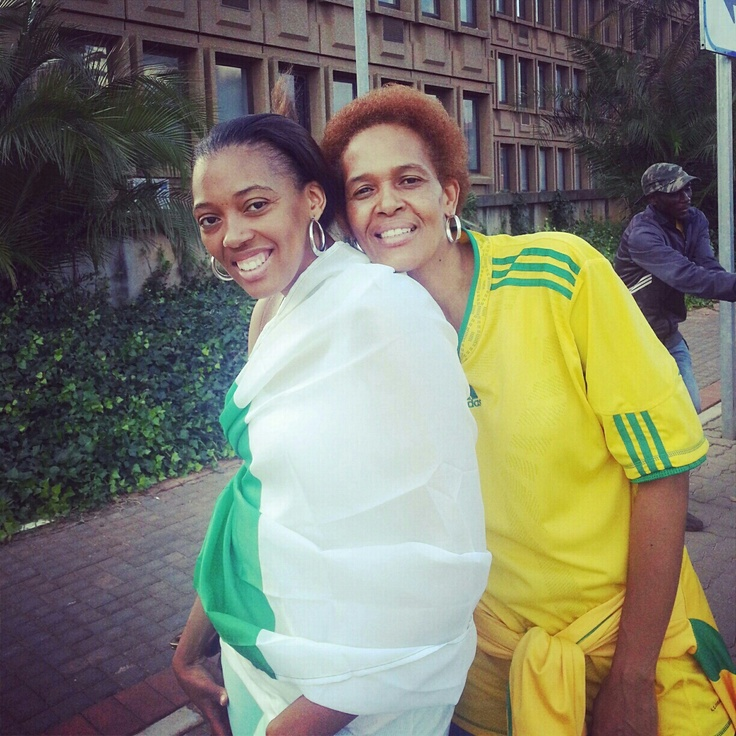 This is me, Thenjiwe Roda (left) and my mother, Letta Roda (right). The picture was taken was taken on our way to the Afcon final in Johannesburg. Although we do not always support the same soccer teams, she is MY biggest supporter and I am her biggest supporter. Would choose her all over in my next life!  Crossing fingers for the hamper!