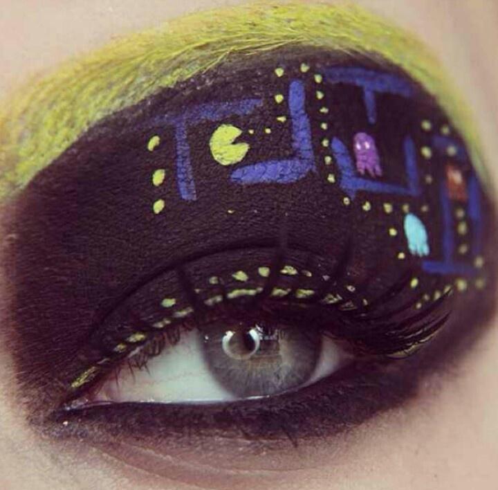 Ms. Pac Man eyes
