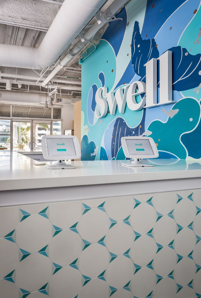 Oh Joy! for Clé Tile in an office space! Office wall