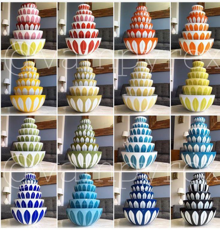 Vintage enamel Cathrineholm mixing bowls