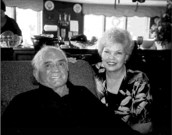 ♬ Johnny Cash, shown here with his first wife, Vivian Liberto, in 2003. ♬