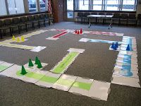 LIfe sized Sorry board game @ The Gnoming Librarian: Library GrabBag: GIANT Fun