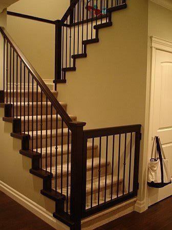 I'm thinking I like this style of stairs. Closet from front...then bathroom behind, towards house side.