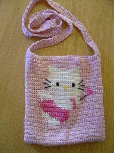 Crochet Hello Kitty Angel handbag | by Oslofias