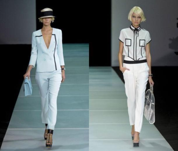 Белые брюки узкие