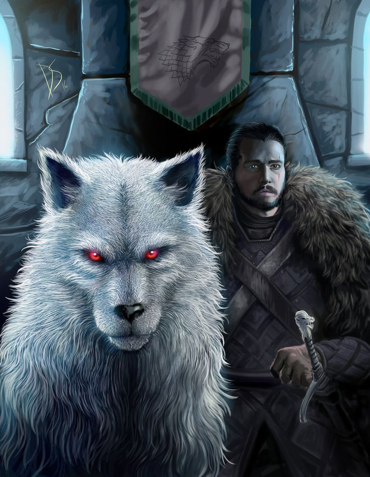 THE WHITE WOLF AND THE KING IN THE NORTH by DIOSCUROS87