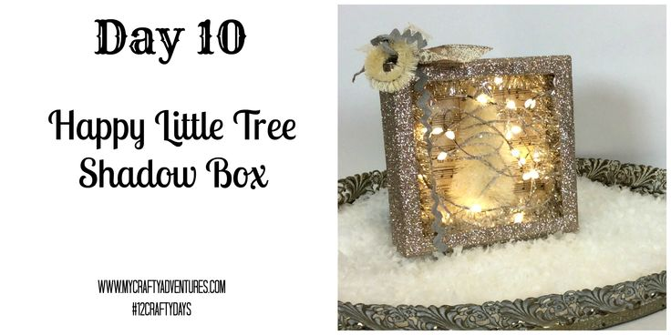 And, here we go - another happy little tree!  Today I have decided to do a bit of a more in-depth project - it is hard to not start breaking out the glitter, the bottle brush trees, and lights to m...