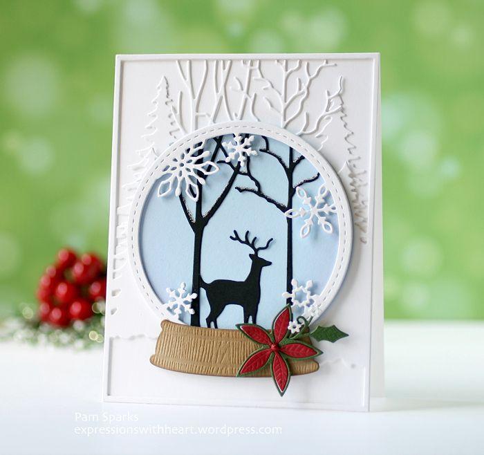 открытки со снегом своими руками пожелание ваш день