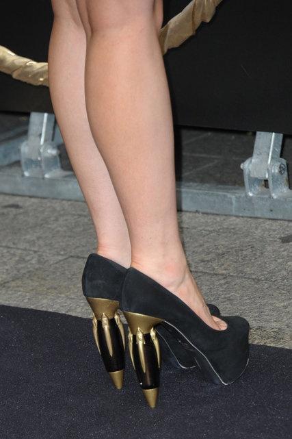 Lady Gaga's shoes / Paris - 23/09/2012