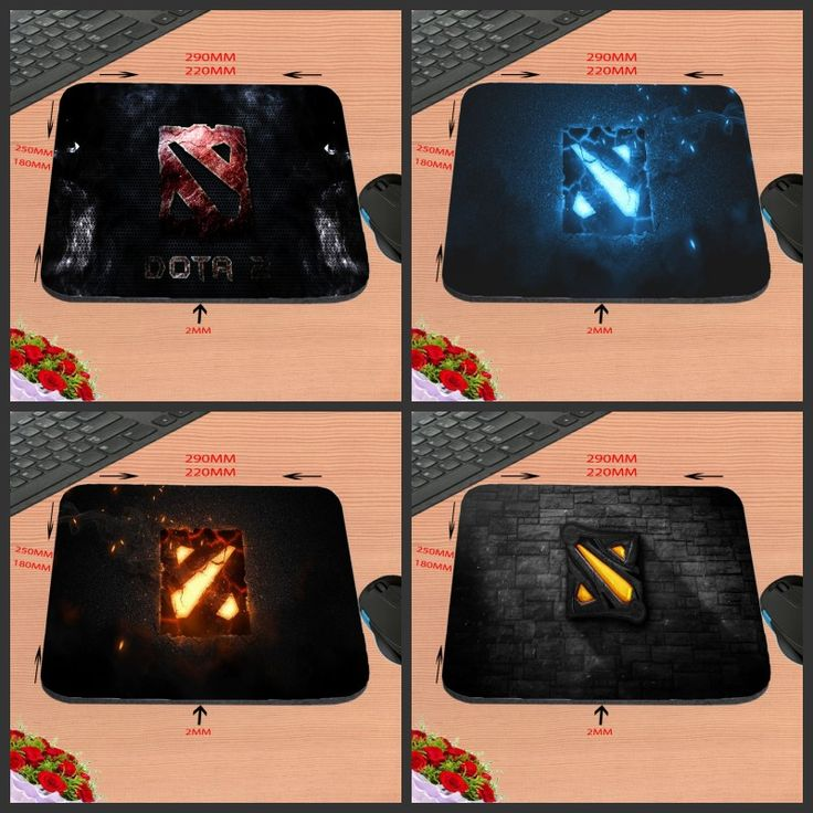Hot Sell DOTA 2 Logo Design Silicon Anti-slip Gaming Mousepad Computer Mouse Pad Mat For Optical Mice Trackball Mouse As A Gift
