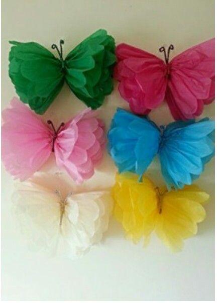 Butterfly poms