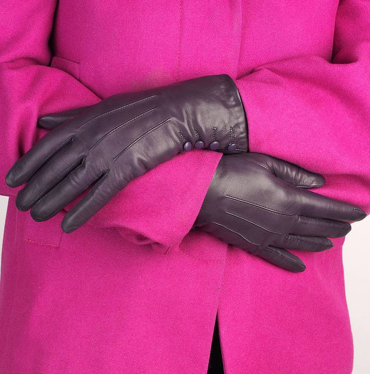 kate button leather gloves in five colours by southcombe gloves | notonthehighstreet.com
