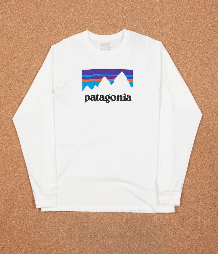 Patagonia Shop Sticker Long Sleeve T-Shirt - White | Flatspot