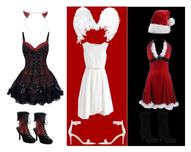 st. Nicholas PARTY!!! by slytheriner on Polyvore featuring Chicwish, Gianvito Rossi and Crown and Glory