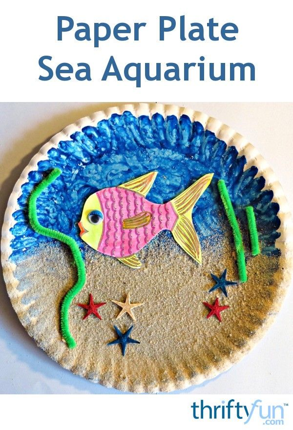 This is a guide about making a paper plate sea aquarium. An easy, creative project for youngsters to make in a short time using simple craft materials.