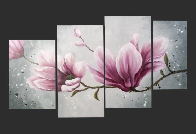 Quadro moderno 39 magnolia 39 quadri pinterest for Quadri a olio fiori
