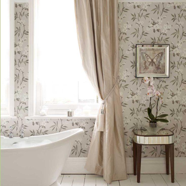 7 best las im genes del viernes images on pinterest for Bright bathroom wallpaper