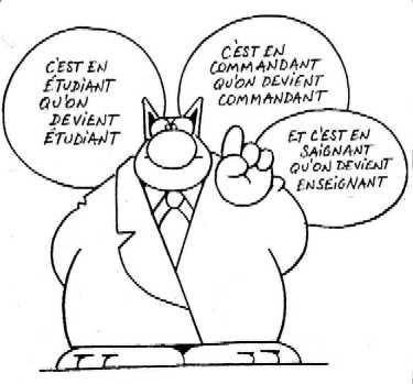 Le chat. Artiste: Geluck