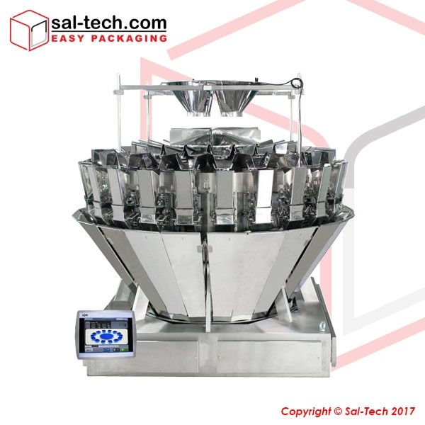 This 24 Head mix multi-weigher is an innovative design furnished with three-hopper layers – feed, weigh, and memory hoppers – to cultivate high accuracy packing requirements. The machine is also adept to mix up to 5 products weighing from 15g to 500g. Securing a high-quality produce at a reasonable price, this equipment also ensures consistency attributable to its memory hopper feature.