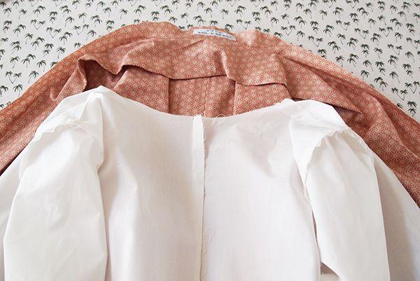 pose d une doublure de veste cf rdc veste michele couture pinterest cameras olympus. Black Bedroom Furniture Sets. Home Design Ideas
