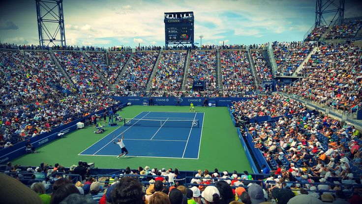 #athletes #audience #competition #court #crowd #fans #game #group #match #people #players #spectators #sport #stadium #stadium seats #tennis #tennis court #tennis players #tennis stadium #tournam