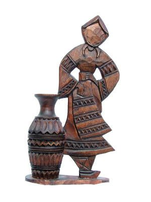 Romanian Wood Carving. Take one home with you on your trips to Romania.