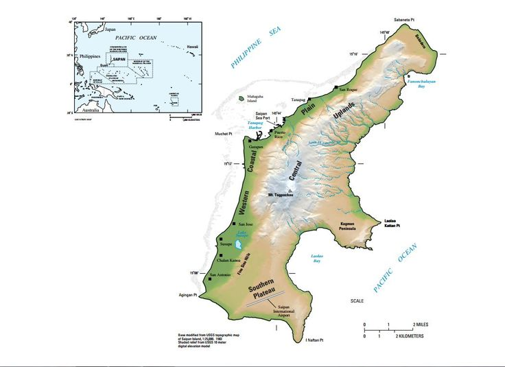 Map of Saipan