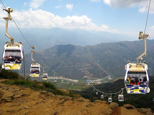Cable Car over the Chicamocha Canyon in Santander, Colombia. Visit our website: http://www.going2colombia.com/