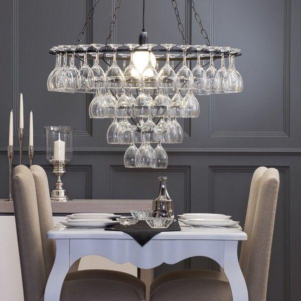 Best 25 Wine Glass Chandelier Ideas On Pinterest  Wine Glass Amazing Glass Chandeliers For Dining Room Decorating Design