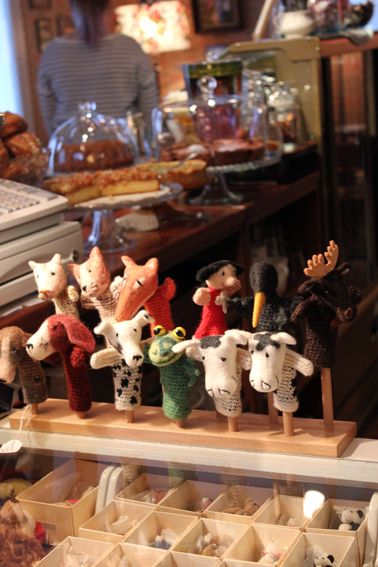 Suomenlinna Toy Museum Shop. These finger puppets are hand made in Finland by Pienet Oranssit. They are individually made from finnish sheepwool.