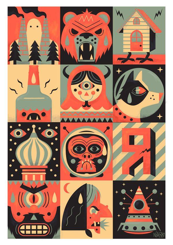 Illustration #17 ( prints ) by Seb Niark1 Feraut