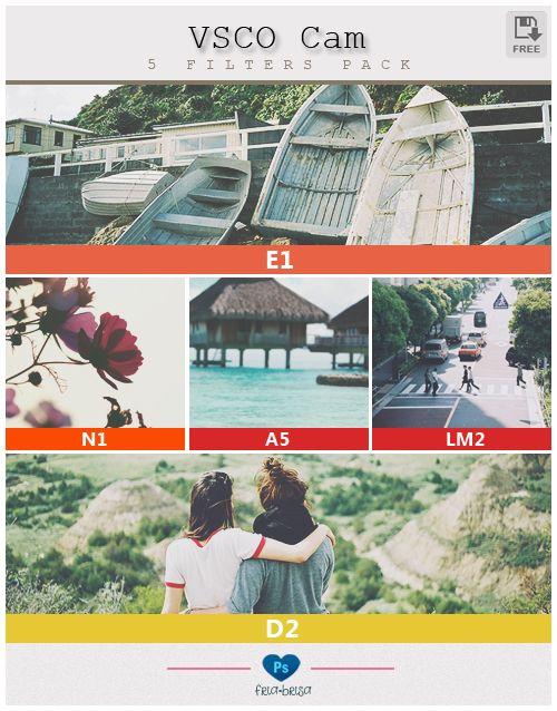 VSCO Cam 5 Filters - Photoshop PSD by friabrisa.deviantart.com on @deviantART