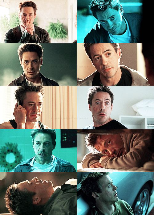 "The many faces of Harry Lockhart (Robert Downey Jr.), ""Kiss Kiss Bang Bang""- I love this movie so much :)"