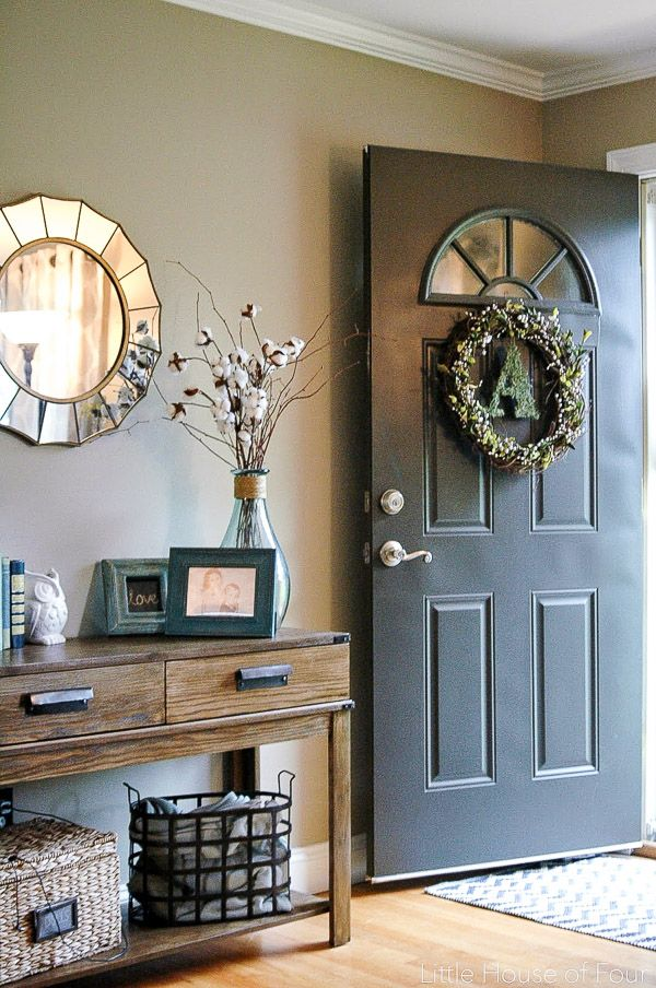 a new fall wreath narrow entryway decorentryway - Entryway Design Ideas