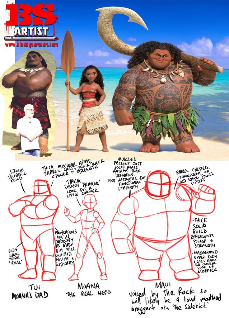 Image result for maui moana character design
