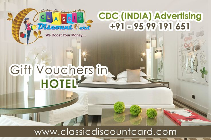 If you join our classic discount card so we are provide free gift vouchers in hotel through our merchandiser